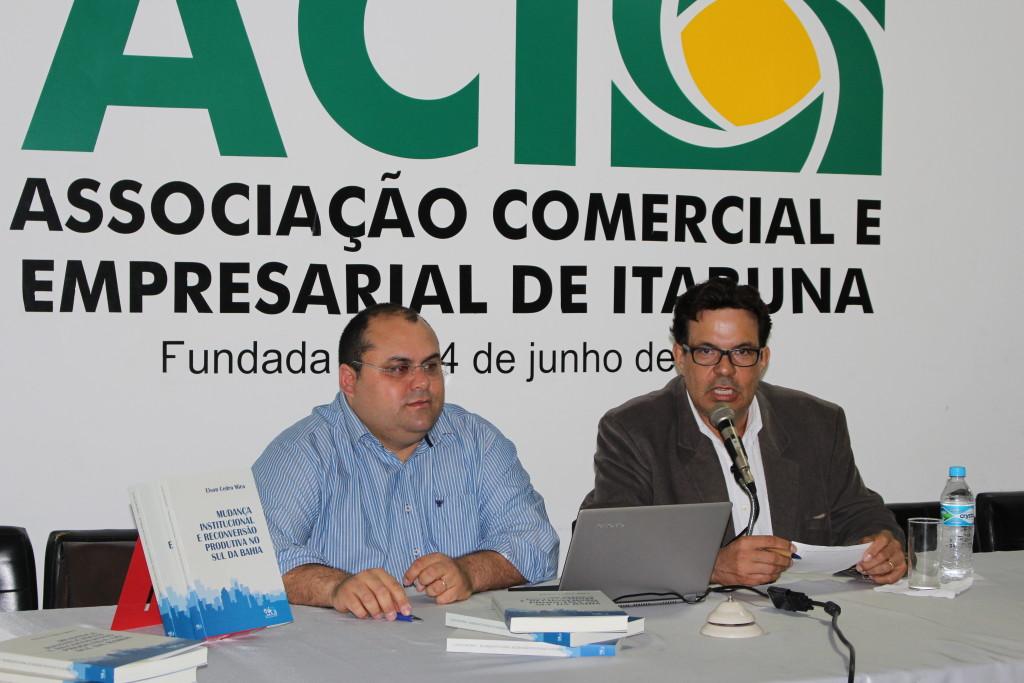 Elson Mira e Luiz Ribeiro  Reunião da ACI  1º de junho de 2015 (3)