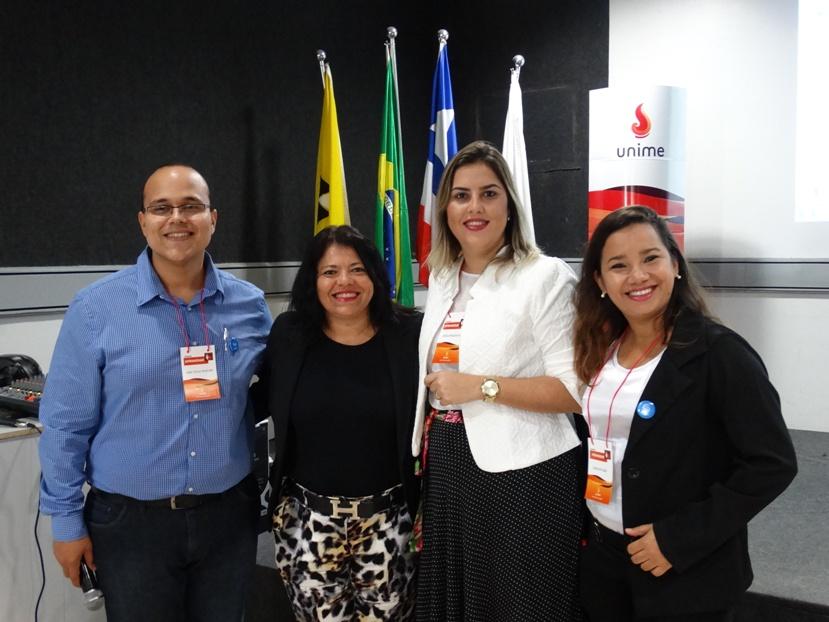 João Victor Andrade, Claudiana Figueiredo, Odilia Moliterni e Leila Arruda
