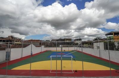Obra de recuperação da quadra poliesportiva do Santo Antônio foi concluída - Foto Gabriel de Oliveira (3)