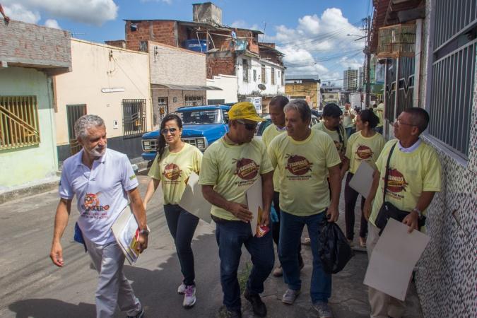 Secretário de Saúde, Paulo Bicalho, coordenou a mobilização contra o mosquito no São Caetano - Foto Gabriel de Oliveira (2)