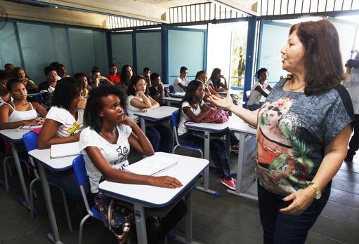 Retorno às aulas na rede estadual Foto: Elói Corrêa/GOVBA