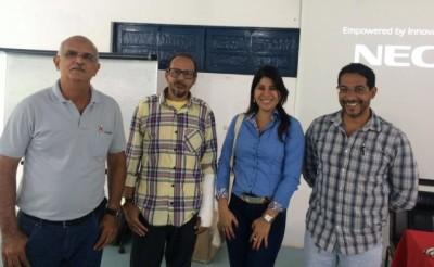 Lúcius Flávius, do CDS, instrutur Cosme Nunes, Tauá Fontes, do CDS e o secretário de meio ambiente de Itajuípe, Marcos Paulo