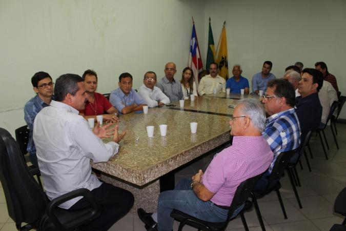 Empresários se reúnem com o prefeito de Itabuna