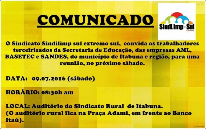Comunicado_reuni_sindilimp_Itb_07_07_2016