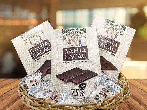 Bahia Cacau lança chocolate diet 75%